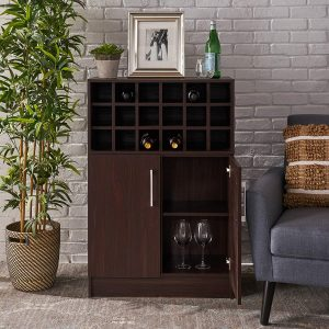 Christopher Knight Home Rouche Mid-Century Wine Cabinet