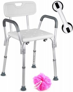 Dr. Maya Handicap Shower Chair with Arm and Back