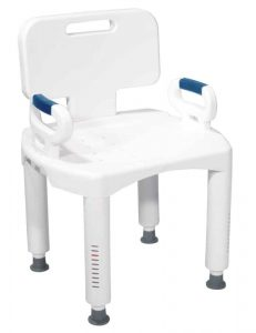 Drive Medical Shower Chair with Back and Arms