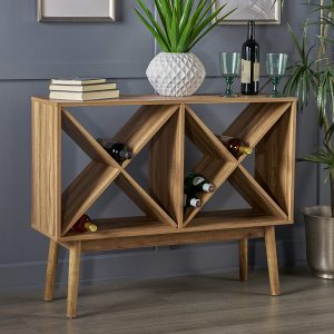 Great Deal Furniture Modern Sonoma Wood Bar Cabinet