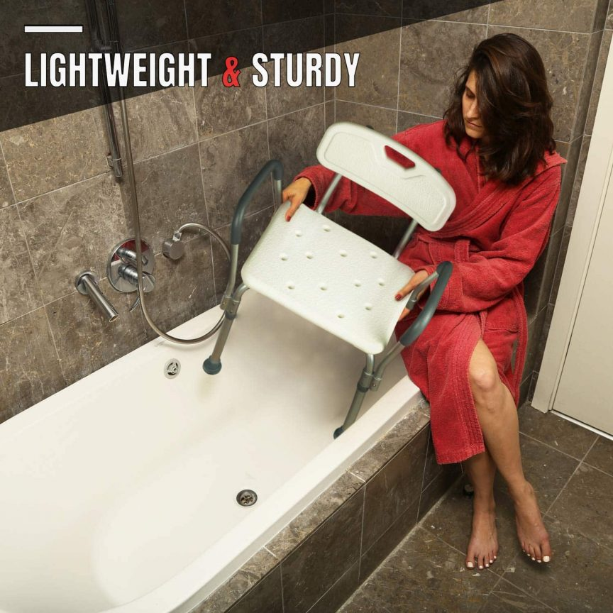 Handicap Shower Chair with Arm and Back