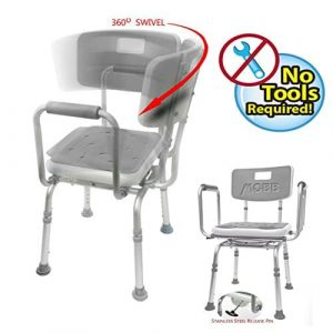 MOBB Swivel Shower Chair Bath Bench with Back