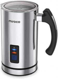 Miroco Electric Milk Steamer and Hot Chocolate Maker, 120V
