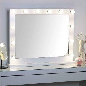 MissMii Hollywood Lighted Vanity Mirror