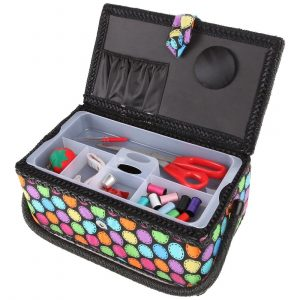 Polka Dot Sewing Basket