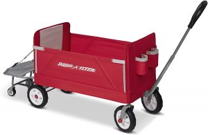 Radio Flyer 3-in-1 Folding Wagon with Cooler Caddy for Kids
