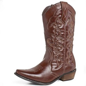 SheSole Women's Winter Western Cowgirl Cowboy Boots