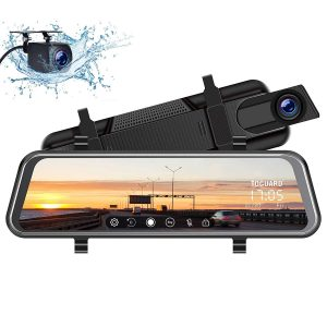 TOGUARD Backup Camera 1080P Rear Camera 10 inches Mirror Dash Cam
