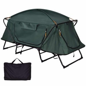Tangkula Tent Cot Foldable Person Hiking Camping Tent