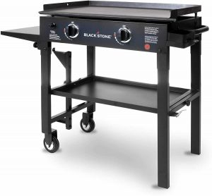 "Blackstone 28"" Outdoor Flat Top Griddle Station with 2 Burners"