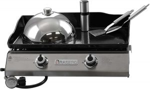 Brasero Portable Outdoor Griddle with Two 2 Burners