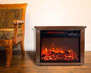 Lifesmart Infrared Quartz Fireplace w/Remote