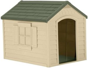 Suncast Outdoor Dog House with Doo