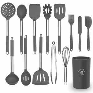 AILUKI Silicone Cooking Utensil Set