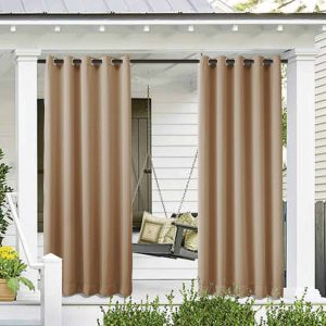 Cololeaf Outdoor Patio Waterproof Curtain