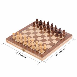 ColorGo Magnetic Wood Chess Set