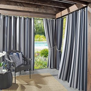 Sun Zero Valencia UV Protectant Waterproof Patio Curtain