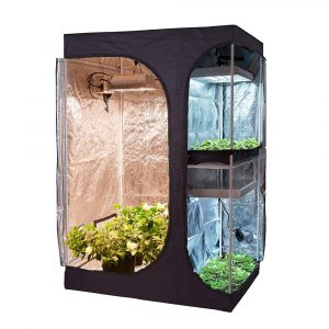 Hongruilite 2-in-1 Hydroponic Indoor Grow Tent