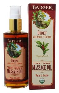Badger Ginger Massage Oil - 4 oz