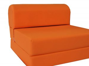 D&D Futon Furniture Foldable Chair Beds Orange Sleeper Chair