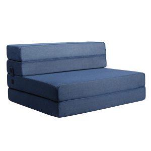 Milliard Tri-Fold Foam Sofa Bed Folding Mattress (Twin_XL)