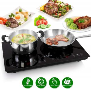 NutriChef Double Induction Hot Plate Cooktop