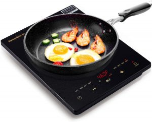 Portable Touch Induction Cooktop with LED Screen,