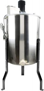 VIVO Electric 4 Frame Stainless Steel Honey Extractor