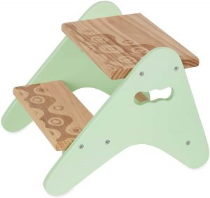 B. Spaces Peek-A-Boost – Wooden Two-Step Stool