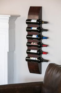 Cypress Home Wooden Wine Rack - Easy to Install