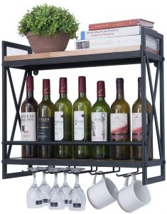 GWH Industrial Wine Racks, 2-Tiers