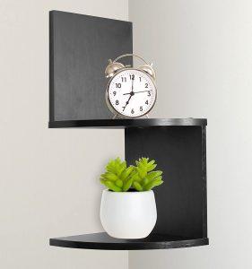 Greenco Modern Design Corner Floating Shelves