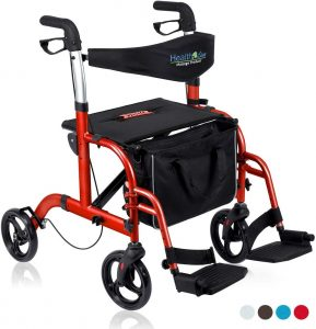 Health Line Massage 2-in-1 Rollator with Backrest