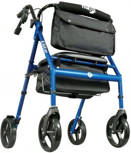Hugo Elite Rollator Walker with Backrest