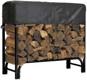 North East Harbor Outdoor Firewood Log Rack with Cover