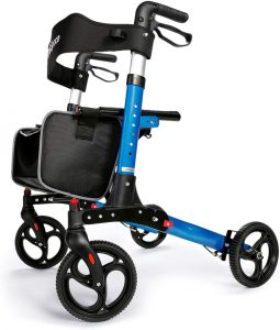 Oasis Space 8-inch wheels Rollator Walker with Backrest