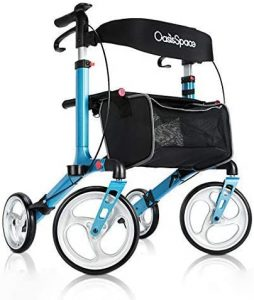 "OasisSpace Rollator Walker with 10"" Wheels with Backrest"
