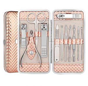 Okbool 12 In 1 Manicure Pedicure Stainless Steel Set