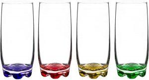 Red Co. Vibrant Splash Water/Beverage Highball Glasses