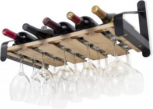 Rustic State Wall Mounted Wine Rack (Natural)