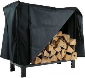 Sunnydaze 30 Inch Firewood Log Rack with Cover
