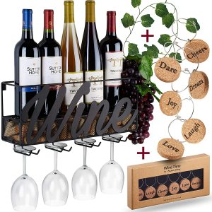 TRIVETRUNNER -ANNA STAY Wall Mounted Wine Rack