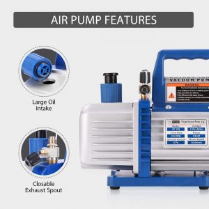 VIVOHOME 1/4 HP 110V 3.5 CFM Air Vacuum Pump with Single-Stage Rotary Vane
