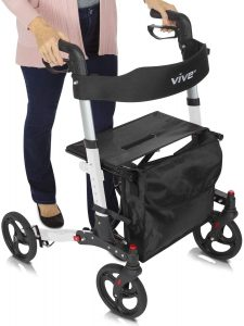 Vive Rollator Walker with Backrest