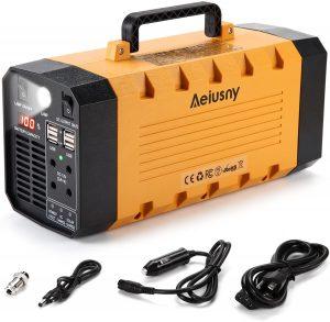 Aeiusny Portable Solar Generator 500W 288WH