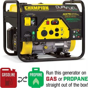 Champion 3500-Watt Dual Fuel Portable Generator