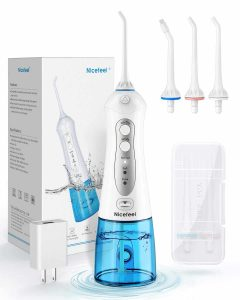 NICEFEEL Cordless 300ML 2 Tip Cases Portable Oral Irrigator