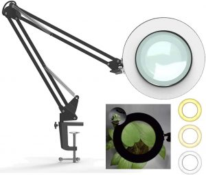 Hokone 5X Magnifying Lamp with Clamp,
