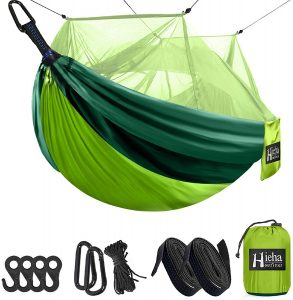 Hieha Camping Hammock with Mosquito Net