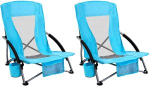 AsterOutdoor Low Sling Beach Chair Folding